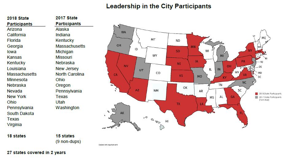 US participant map with details