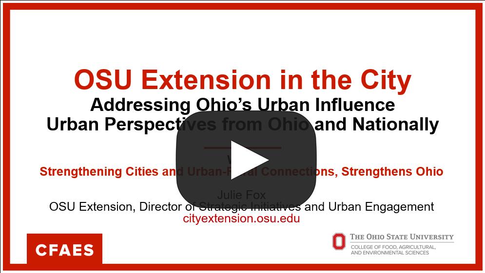 image of Urban Influence PPT slide